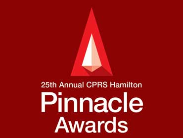 The Canadian Public Relations Society (CPRS Hamilton) – Pinnacle Awards
